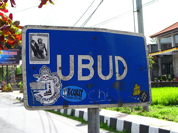 ubud sign