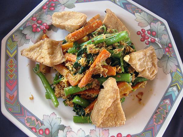urap urap tofu