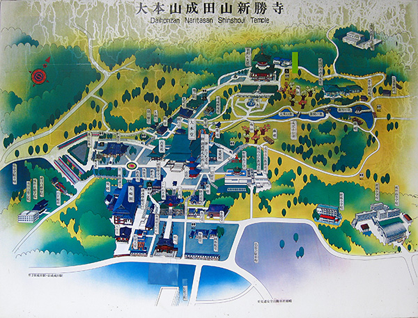 Naritasan Shinshō-ji Temple map