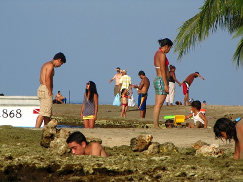 Beach crowd - Puerto Viejo, Costa Rica