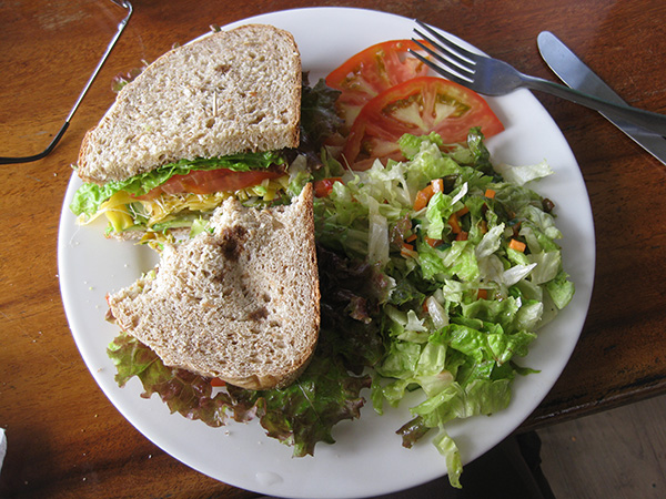 Bread and Chocolate Veggie Sandwich - Puerto Viejo, Costa Rica