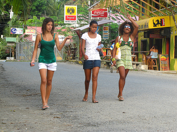 Local girls - Puerto Viejo, Costa Rica