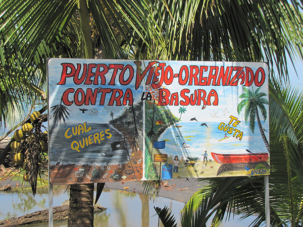 Beach sign - Puerto Viejo, Costa Rica