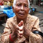 Beggar in the market - Phnom Penh, Cambodia