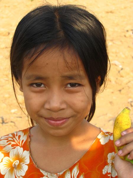 Girl - Mekong River, Kampong Cham, Cambodia