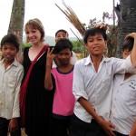 Kids - Phnom Chhnork Caves, Kampot, Cambodia