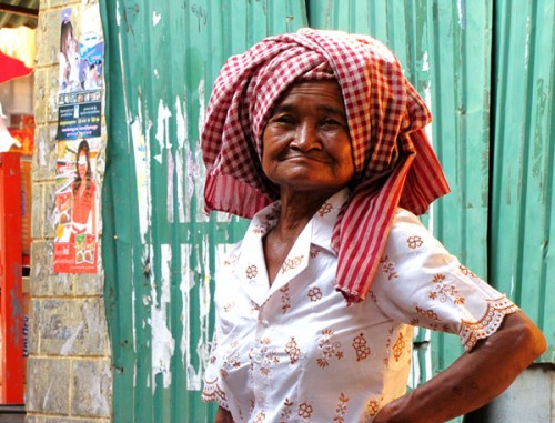 Old woman - Kampong Cham, Cambodia