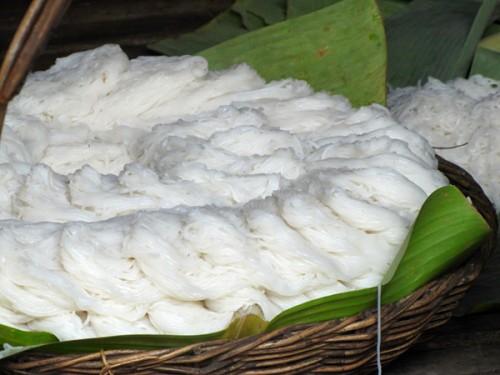 Rice noodles - Battambang, Cambodia
