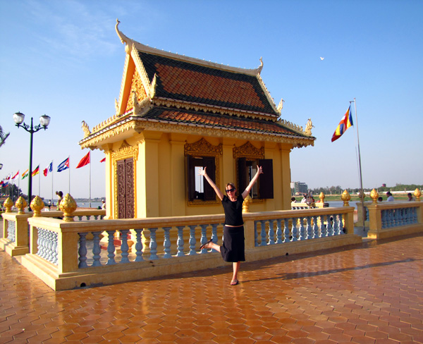 Me at the waterfront - Phnom Penh, Cambodia