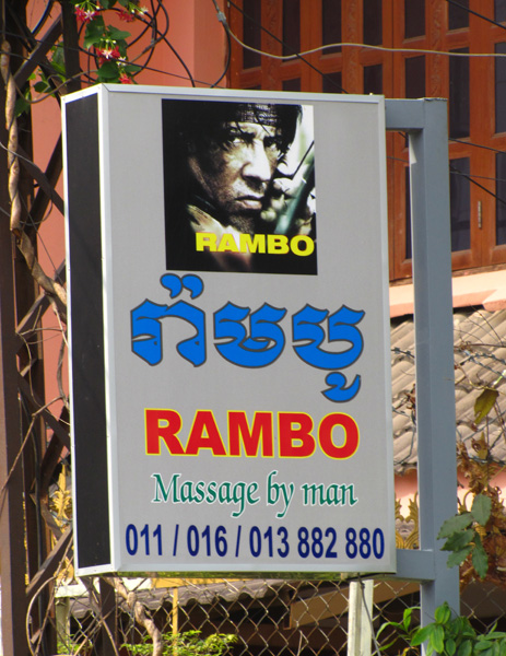 Rambo sign - Phnom Penh, Cambodia