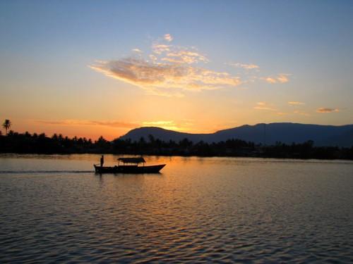 Sunset - Kampot River, Cambodia