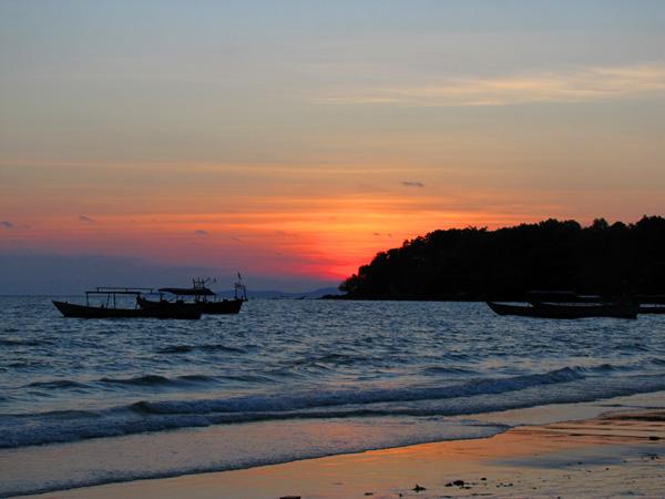 Sunset - Ochheuteal Beach, Sihanoukville, Cambodia