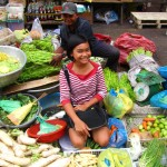 Vegetable stall in the market - Phnom Penh, Cambodia