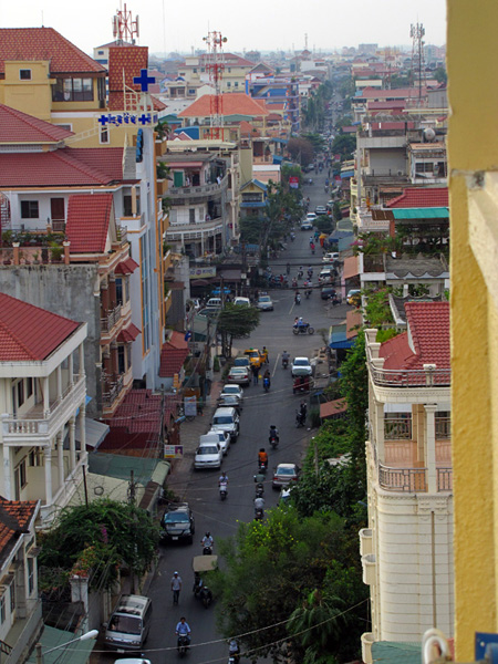View from hotel - Phnom Penh, Cambodia