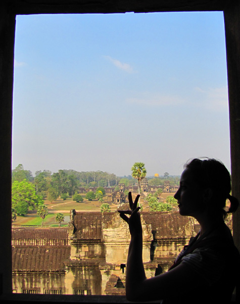 Ariel top of Angkor Wat, Cambodia