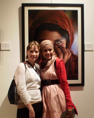 Ariel and Muslim girl - Islamic Arts Museum, Kuala Lumpur, Malaysia