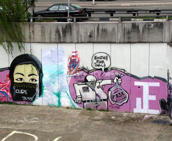 Graffiti near Pasar Seni - Kuala Lumpur, Malaysia