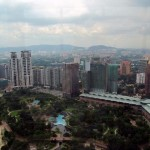 View from Petronas Twin Towers Skybridge, Kuala Lumpur, Malaysia