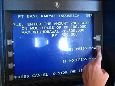 ATM - Padang Bai, Bali, Indonesia