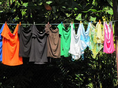 Laundry drying -  Pureto Viejo, Costa_Rica