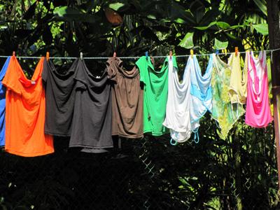 Laundry drying -  Pureto Viejo, Costa_Rica
