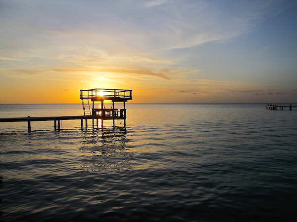 Foster's Dock - West Bay Beach, Roatan, Honduras
