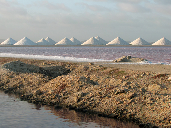 Salt piles - Bonaire